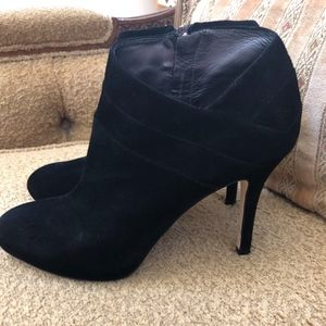 Via Spiga black suede booties